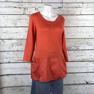 A1 Anthropology MOTH Split Sweater w/Pockets M